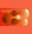 orange grace style vector image vector image