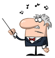 Orchestra Conductor Holds Baton vector image