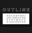 outline modern font trendy english contour vector image vector image