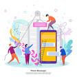 phone messenger development concept process of vector image