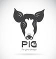 Pig head vector image vector image