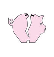 piggy saving money vector image vector image