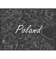 Poland chalk vector image vector image