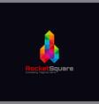 rocket square logo - stylish diamond concept logo vector image vector image