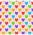 romantic seamless pattern with rainbow colored vector image