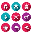 Set of Kingdom Icons Knight Castle vector image vector image