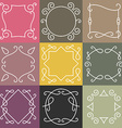 set of outline borders and frames abstract hipster vector image vector image