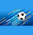 soccer ball web banner for sport game event vector image vector image