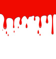 Spilled red color on a white background vector image vector image