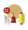 standard equipment for sewing as hobby and pastime vector image vector image