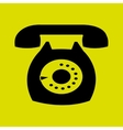 telephone icon design vector image vector image