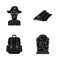 travel training and or web icon in black style vector image