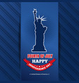us independence day design 4th of july vector image vector image
