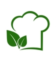 vegetarian sign with chef hat vector image
