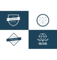 Vintage old style logo icon template set vector image vector image