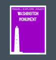 washington monument usa monument landmark vector image