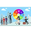 Wheel of Business Fortune Concept vector image vector image