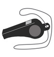 whistle icon on white background whistle sign vector image vector image