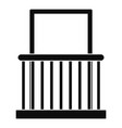 window with small fence icon simple style vector image