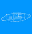 world war one tank blue print vector image vector image