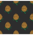 young pineapple on dark background seamless vector image vector image