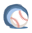 Baseball Softball Ball vector image