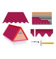 Soft tile roof vector image