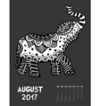 2017 calendar page of month vector image