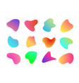 abstract liquid shape modern gradient color style vector image