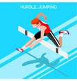 Athletics Hurdle Jump 2016 Summer Games 3D vector image vector image