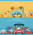 automatic car wash banners vector image