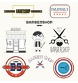 barbershop elements and badges vector image