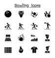 bowling icons set graphic design vector image
