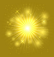 bright flash and explosion on the dark background vector image