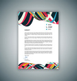 business letterhead design 1008 vector image vector image