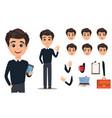 business man cartoon character creation set young vector image vector image