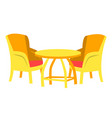 cafe furniture chair and table restaurant vector image vector image