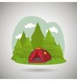 camping equipment design vector image vector image