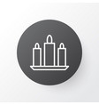 candles icon symbol premium quality isolated wax vector image