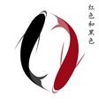 Carp set of koi carps red and black fish vector image vector image