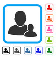child parent framed icon vector image
