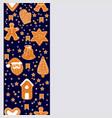 christmas gingerbread cookies making a rectangular vector image