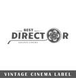 cinema label vector image vector image