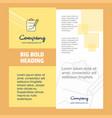 clipboard company brochure title page design vector image vector image
