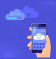 cloud server vector image