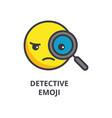 detective emoji line icon sign vector image vector image