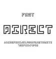 direct font alphabet vector image vector image