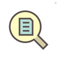 document search icon set design 48x48 pixel vector image vector image