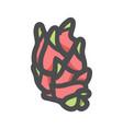 dragon fruit exotic food icon cartoon vector image