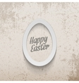 Easter realistic paper Egg Banner vector image